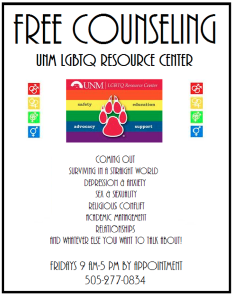 counseling lgbtq resource center the university of new mexico. Black Bedroom Furniture Sets. Home Design Ideas